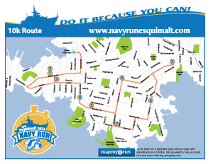 Navy Run 10K map