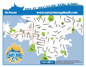 Navy Run 5k map