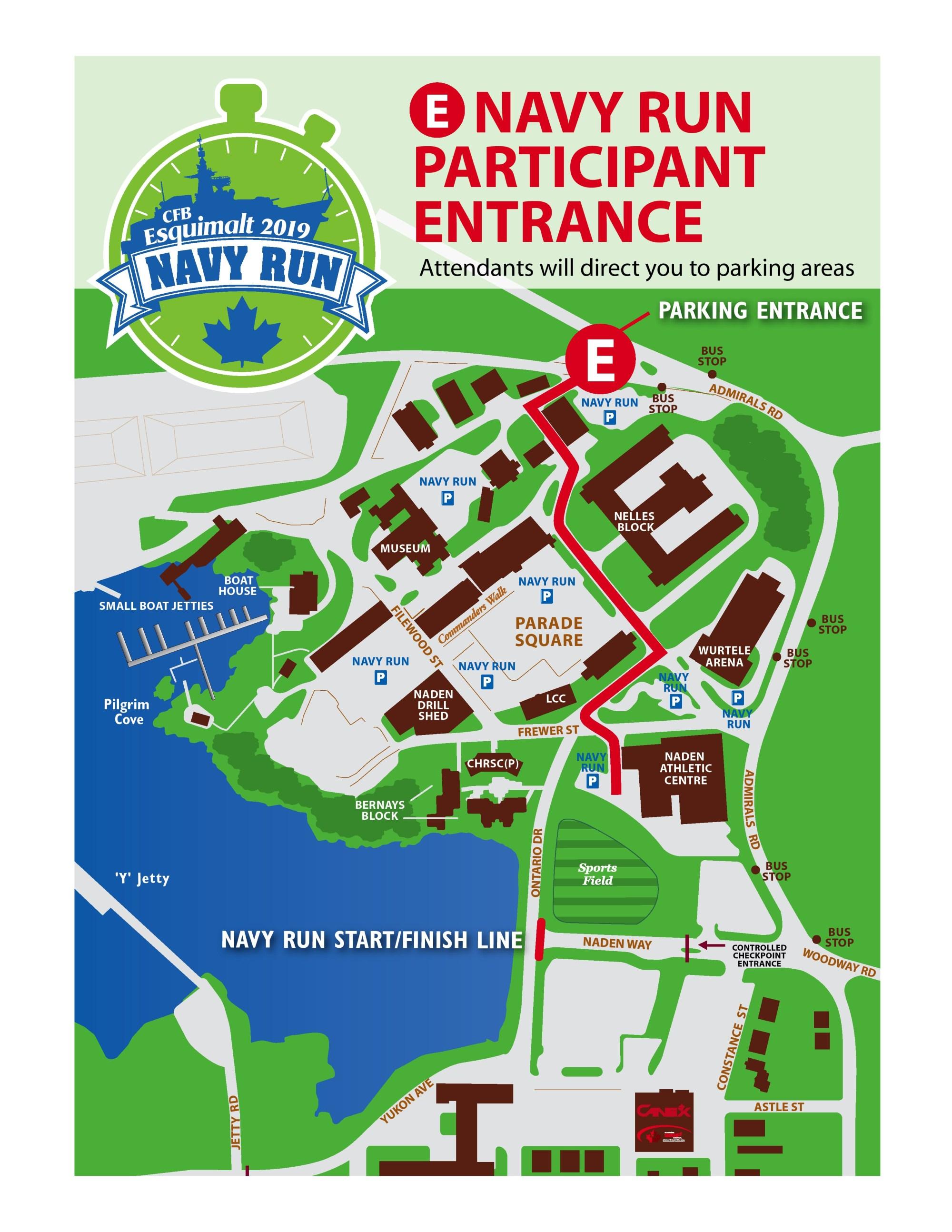 Navy run parking map